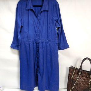 Eileen Fisher Blue Shirt Dress